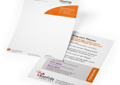 Printdesign, Briefbogen und Plakate