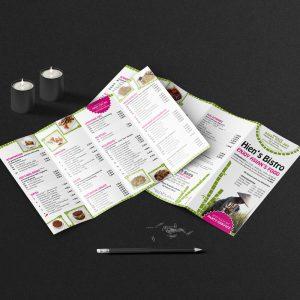 Printdesign, Speisekarten