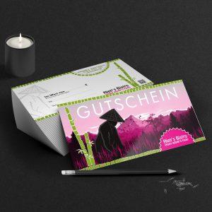 Printdesign, Gutscheinkarten