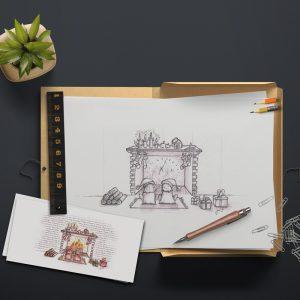 Printdesign, Grußkarten